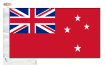 New Zealand Civil Red Ensign Courtesy Boat Flags (Roped and Toggled)